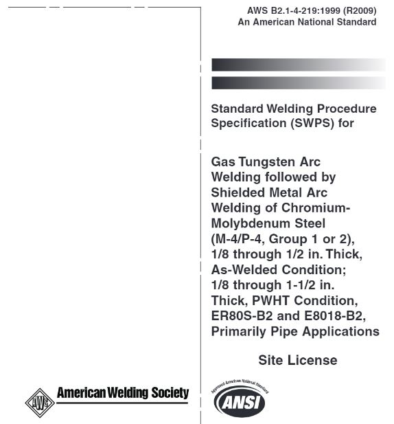 Standard Welding Procedure Specifications are available for purchase from the American Welding Society. These SWPSs are backed up by several PQRs.