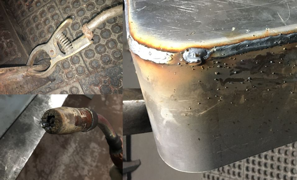 Spatter is usually related to welding parameter selection or to maintenance related issues such as frayed cables or clogged nozzles and diffusers