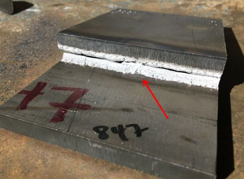 Fillet break tests reveal whether the welder was able to achieve root fusion over a section of joint rather than a single spot.