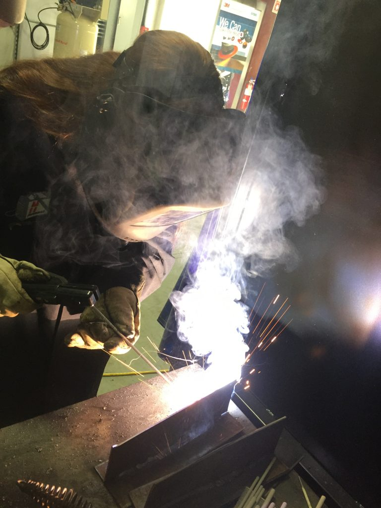 Shielding metal arc welding has very low electrode efficiency but it is a very versatile process which comes in handy when flexibility is required.