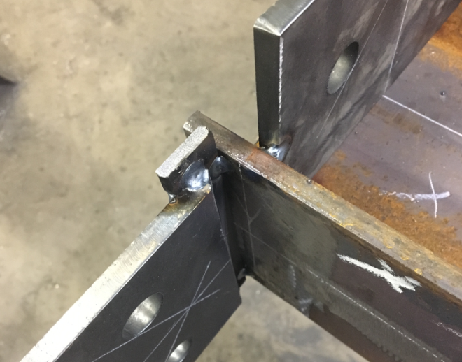 CWIs are responsible to ensure that joints to be welded are within the tolerances allowed by the welding procedure and/or print. It is not their responsibility to ascertain the suitability of the the design of the joint for its intended purpose.